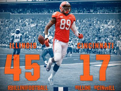 Illinois football 2013 Win Graphic