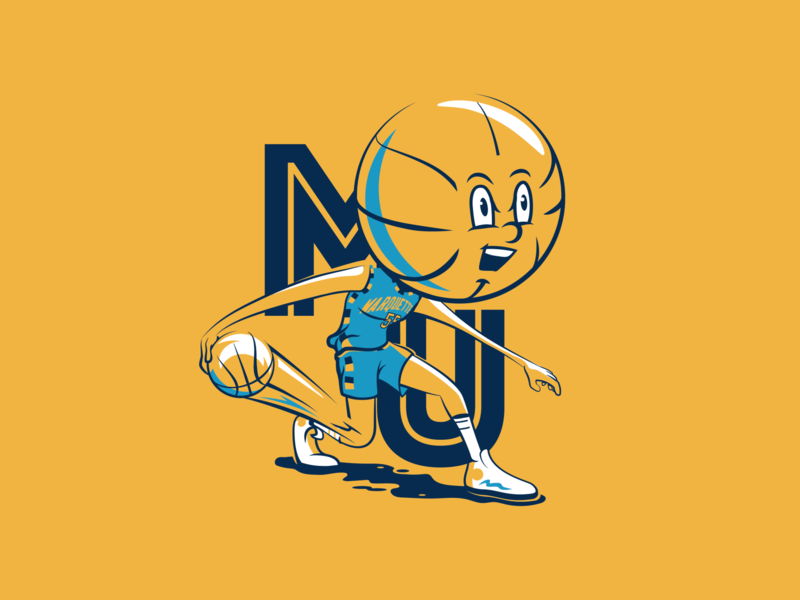 Basketball head - Marquette illustraion basketball golden eagles