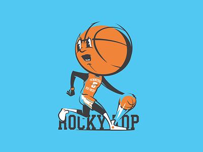 Basketball head - Tennessee volunteers tennessee basketball illustration