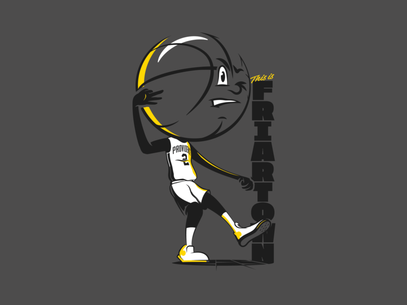 Basketball Head - Providence friars providence illustration basketball