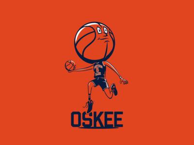 Basketball Head - Illinois 2 illustration basketball illini illinois