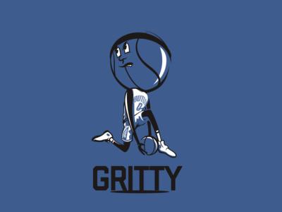 Basketball Head - Butler basketball illustration