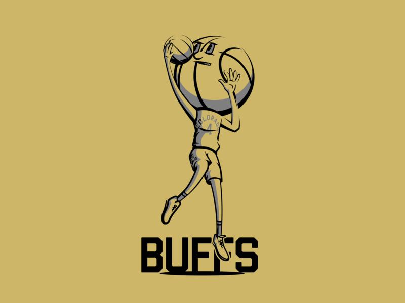 Basketball Head - Colorado illustration basketball buffaloes colorado