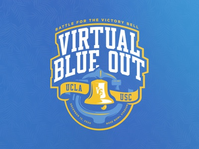 UCLA v USC virtual blue out football virtual usc ucla