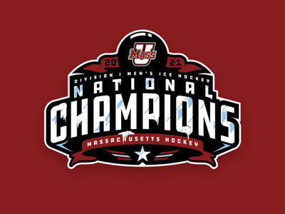 2021 UMass National Championship Logo championship college hockey