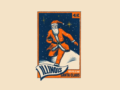 The North Pole Ice Man illustration football illini illinois