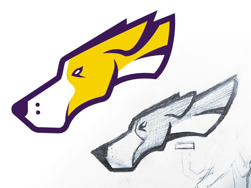 Dog Logo sketch logo dog pointers