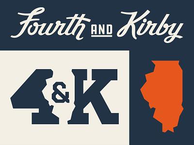 Fourth and Kirby Branding apparel logo script branding illini illinois fourth and kirby