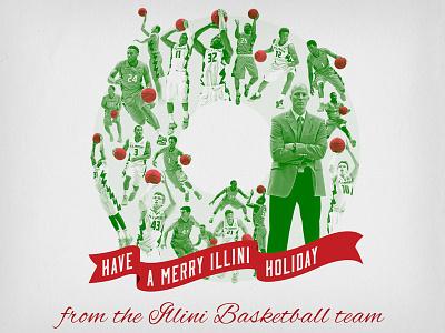 2015 Illinois Basketball Christmas Card basketball illinois illini card xmas christmas