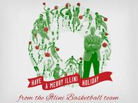2015 Illinois Basketball Christmas Card