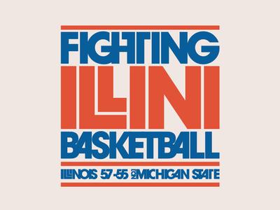 Fighting Illini 1979 basketball itc avant garde lubalin illinois illini