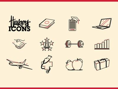 Cornhusker Icon set cornhuskers nebraska icon