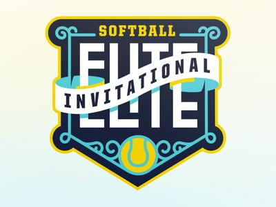 Unused Softball Invite Logo sports logo invitational softball