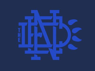 The Den Monogram monogram logo bear den