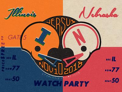 Illini Watch Party vintage illinois illini
