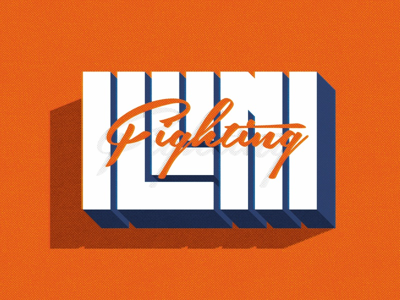Another day, another retro Illini logo typography design fighting illini big ten uofi illini illinois