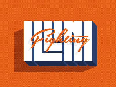 Another day, another retro Illini logo typography design fighting illini big ten uofi illini illinois