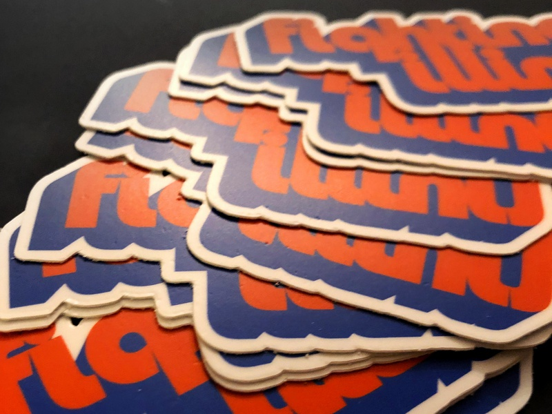IRL Sticker Retro Illini Logo sticker mule sticker design sticker sports fighting illini big ten uofi illini logo illinois