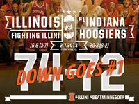 Final Score Graphic vs. #1 Indiana