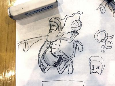 Always use pencil first fourth and kirby illinois illini santa sketch
