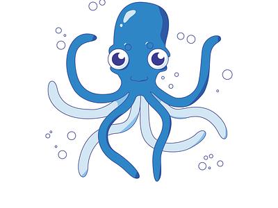 Octopus icon vector illustration