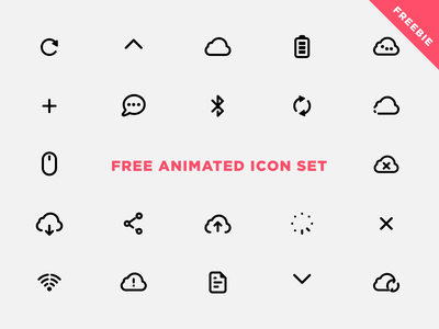 Free Animated Icon Set react native react web css vector ui svg animation svg ios json lottie set icons freebie free design app animation animated aftereffects