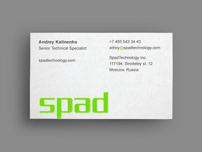 Spad card branding identity logo logotype