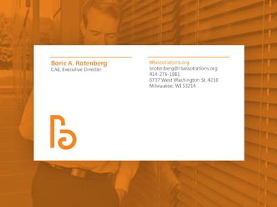 B Rotenberg letters branding identity logo logotype