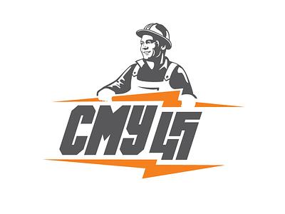 SMU-45 engineer electrical installation development building electrician logotyle logo
