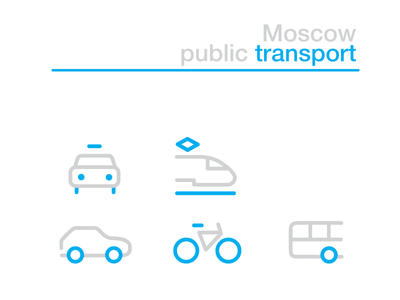 Moscow Transport Iconset bus tram car icons transport