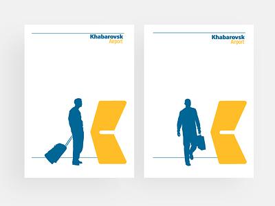 Khabarovsk airport editorial material aiport identity branding