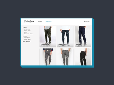 #exploration Tailor Gang Menu ecommerce shop clothing brand menu design clothes branding clothing homepage uxdesign ux uidesign exploration ui uiux