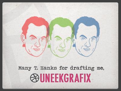 Many T. Hanks for drafting me.