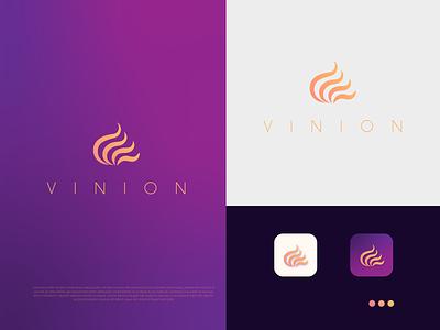 """V"" Letter Modern Fashion Logo |  Vinion Concept Logo adobe illustrator color minimal fashion logo logodesign minimalist logo"