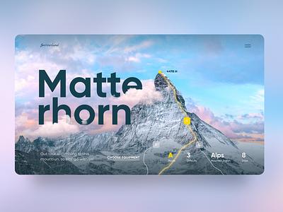 Climbing the Matterhorn rock climbibg rock tablerone climbing switzerland alps matterhorn mountain typography illustration web design concept ux graphic design ui