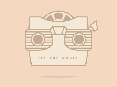 See the world lines illustration gadget nostalgia viewmaster