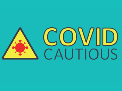 Covid Cautious Official Logo sign typography icon covid19 covid creative logo vector creative branding design brand identity brand design brand campaign design campaign graphic designer graphicdesign branding graphic design design logo