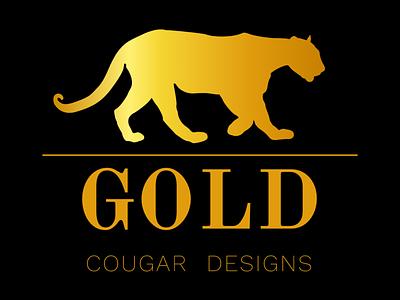 Gold Designs elegant designs gold cougar gradient graphic  design graphicdesign graphics graphic design graphic design branding illustration vector creative logos logodesign logotype logo design