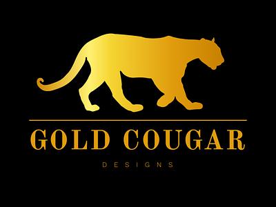 Gold Cougar Designs brand black illustration creative vector cougar gradient graphic design graphicdesign graphics graphic gold brand identity brand design logodesign logotype logo design logos branding logo