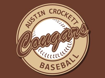 Austin Crockett Baseball Logo branding design logo designs typography cursive font cursive team logo team baseball logo baseball graphic design graphicdesign logos icon logo design logodesign creative vector design branding logo