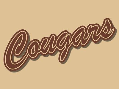 Austin Crockett Baseball Alternate Logo cougars typography design team logo team branding design baseball logo baseball logodesign typographic typography logo cursive logo cursive font cursive design icon typography vector branding creative logo