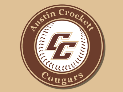 Crockett Baseball Logo brand design cougars cougar shield logo shield logotype team logo team baseball logo baseball logos vector typography icon logo design logodesign branding design creative logo