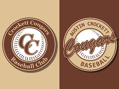 Crockett Baseball Logos branding design brand identity austin shield logo shield team logo team baseball logo baseball typography brand design logos logo design icon creative logodesign design vector branding logo