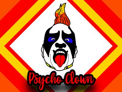Psycho Clown Portrait poster design clown cartoon illustration cartoons simple cartoon red illustration art vector illustration vector art art design vectorart illustration vector creative portrait illustration portrait art