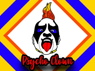 Psycho Clown Cartoon Portrait 4 poster design clown yellow colors colored clean illustration art illustration vectorart vector art art vector creative portrait drawing portraits portrait illustration portrait art cartoon portrait portrait