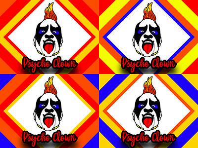 Psycho Clown Cartoon Portraits psycho playful fun aaa wrestler clown vectorart vector art vector illustration portrait collages colors digital art collage design vector creative illustration portraits