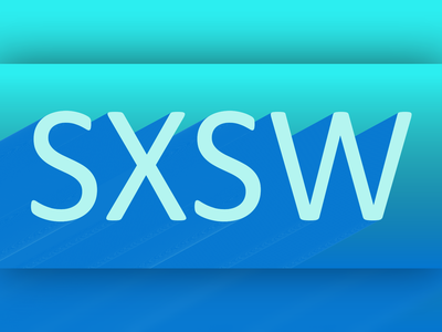 SXSW drop shadows gradient typography block letters blend letters deep blue aqua graphics blue creative vector design art vector art vectorart illustration ill graphic design