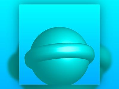 3D Lollipop soothing round monochromatic blue pov 3d design fun childish adaptable playful lollipop art vector art vectorart illustration design vector creative