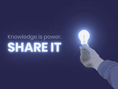 "The Thinkific ""Knowledge is power. Share it."" Challenge empower glow lightbulb thinkific graphic design quote digital art power knowledge light hand neon glowing vector art art vectorart illustration design vector creative"