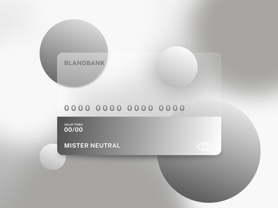 BLANDBANK professional modern sleek neutral colors neutral bland calm bank cards credit card ui design graphic design card branding ui logo vectorart design vector creative